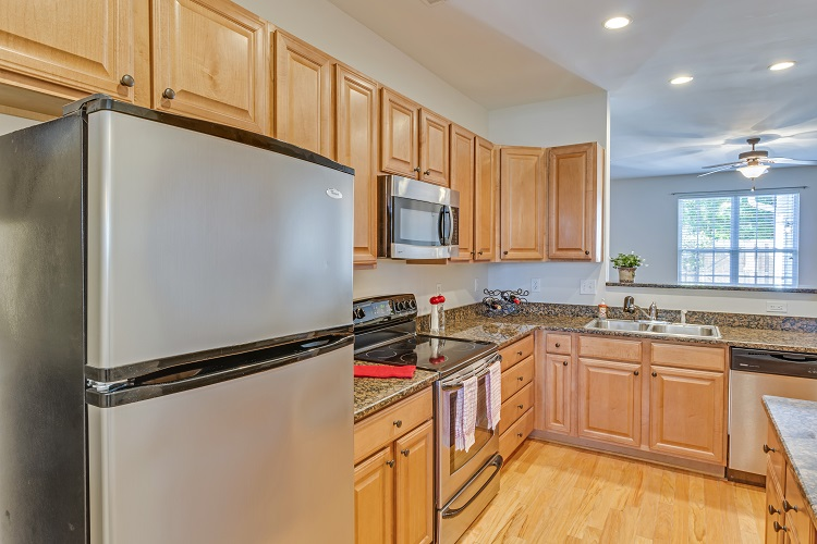 Kitchen with stainless , granite