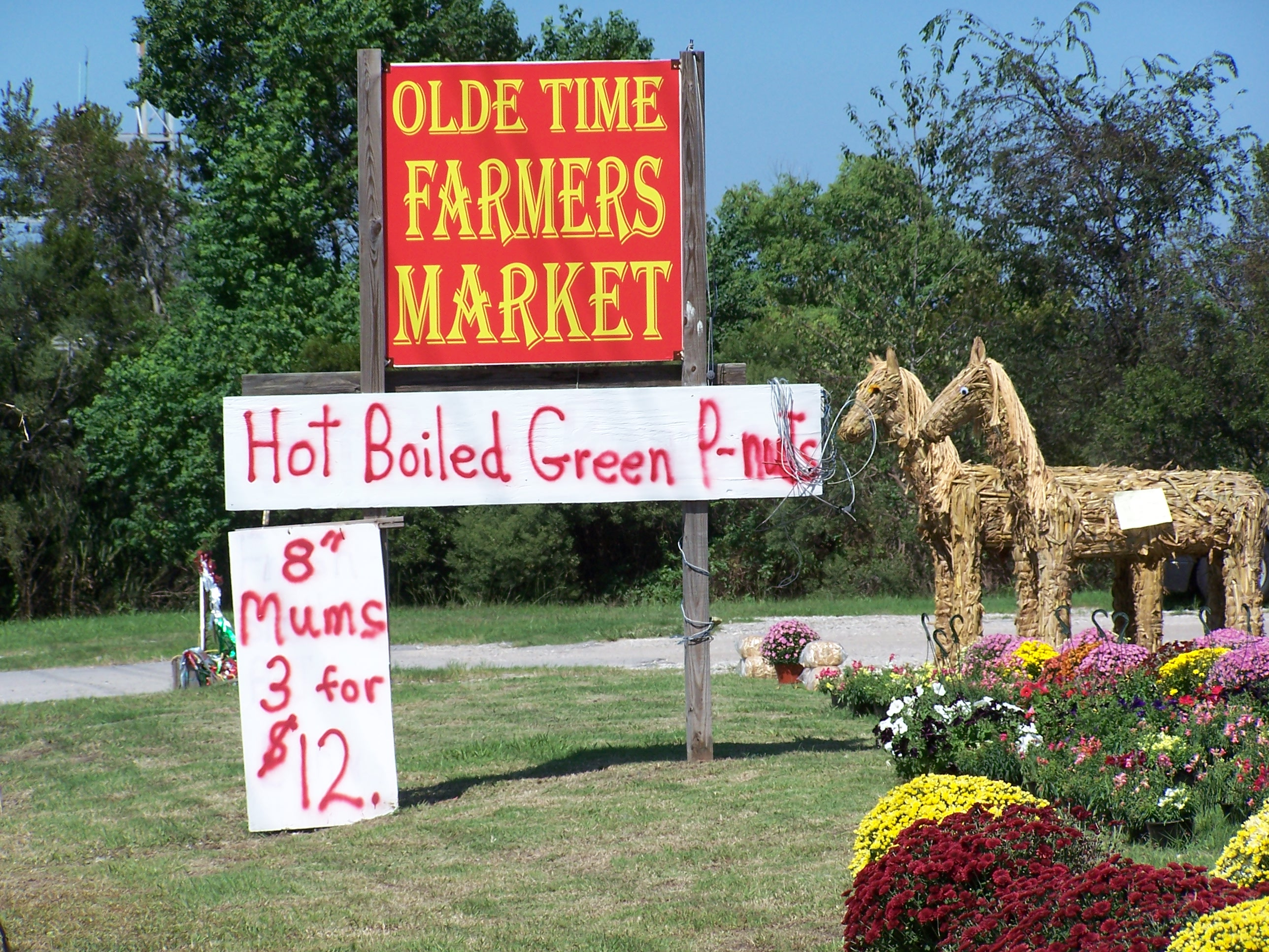 Olde Time Farmers Market Sign