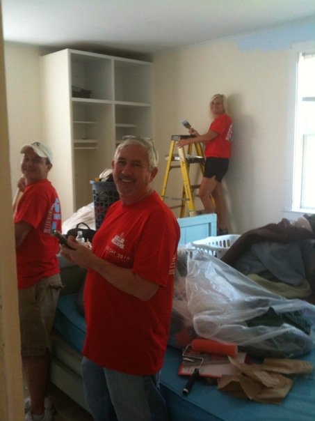KW Agents Paint Dorm Room - Red Day 2010 - Charleston SC